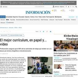 El mejor currículum, en papel y... vídeo