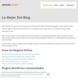 Lo Mejor Del Blog - Manuel Vicedo