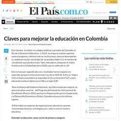 claves para mejorar la educación en colombia