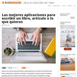 Las mejores aplicaciones para escribir un libro