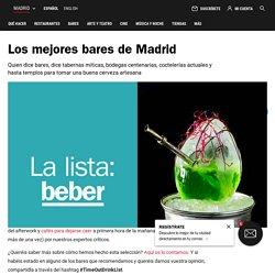Los 50 mejores bares que hay que conocer en Madrid