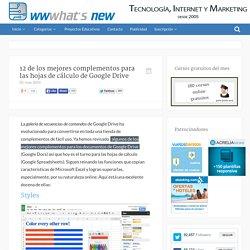 12 de los mejores complementos para las hojas de cálculo de Google Drive
