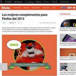 Los mejores complementos para Firefox del 2013