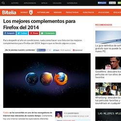Los mejores complementos para Firefox del 2014