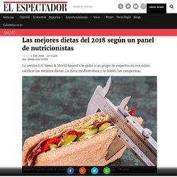 Mejores dietas para 2018