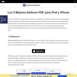 Los 5 Mejores Editores PDF para iPad y iPhone