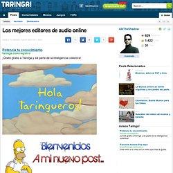 Los mejores editores de audio online