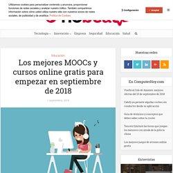 Los mejores MOOCs y cursos online gratis para empezar en septiembre de 2018