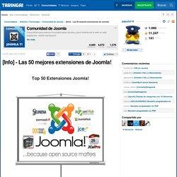 [Info] - Las 50 mejores extensiones de Joomla!