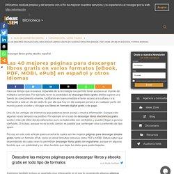 40 Mejores Páginas para Descargar Libros Gratis en ePub, PDF y MOBI