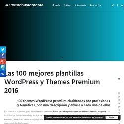 Las 100 mejores plantillas WordPress y Themes Premium 2016