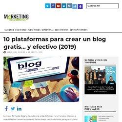 Las 10 mejores plataformas para crear un blog gratis