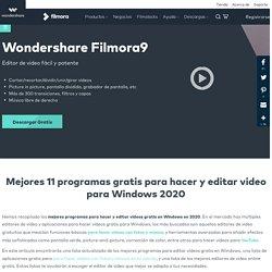 Mejores 10 programas gratis para la edición de vídeo en Windows, 2019