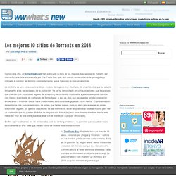 Los mejores 10 sitios de Torrents en 2014