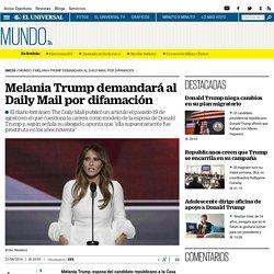 Melania Trump demandará al Daily Mail por difamación