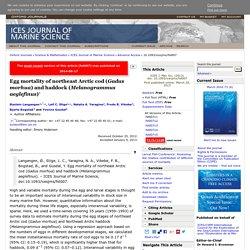 ICES J. Mar. Sci. (2013) Egg mortality of northeast Arctic cod (Gadus morhua) and haddock (Melanogrammus aeglefinus)