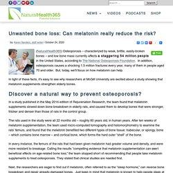 Melatonin Helps Slow Down Bone Loss