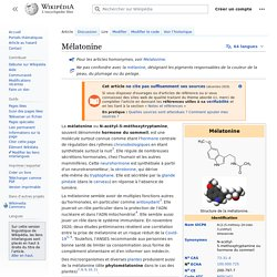 Mélatonine/ Wikipedia