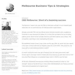 CBD Melbourne: Short of a booming success - Melbourne Business Tips & Strategies
