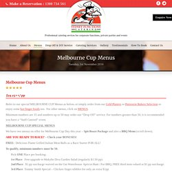Get Diversified Catering Guaranteed In Melbourne Cup Catering