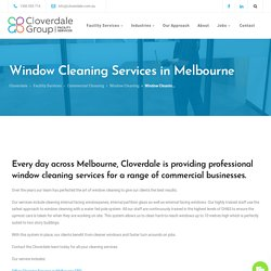Commercial Window Cleaning Melbourne