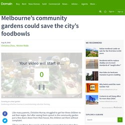 Melbourne's community gardens could save the city's foodbowls