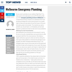 Melbourne Emergency Plumbing – Magnetoz