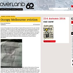 Occupy Melbourne: eviction « Overland literary journal