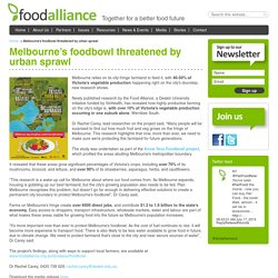 Melbourne's foodbowl threatened by urban sprawl