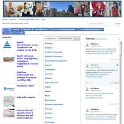 Home - Library Home Page - LibGuides at Melbourne High School