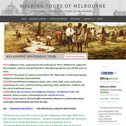 Melbourne Indigenous Tour – Walking Tours of Melbourne