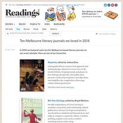 Ten Melbourne literary journals we loved in 2014