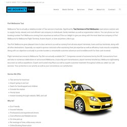 Book taxi in Port Melbourne at Lowest Cost