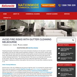 Avoid Fire Risks with Gutter Cleaning Melbourne - NationwideCleaning Melbourne