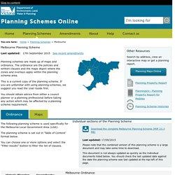 Melbourne - Planning Schemes Online