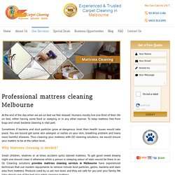 Melbourne Professional Mattress Cleaning Service