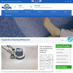 Carpet Dry Cleaning Melbourne - Services - Unique Carpet Cleaning