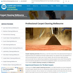 Best Carpet Cleaning Melbourne - Professional Carpet Cleaners