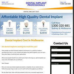 Dental Implants Cost Melbourne