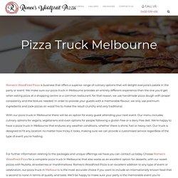 Delicious Pizza Truck Melbourne Service