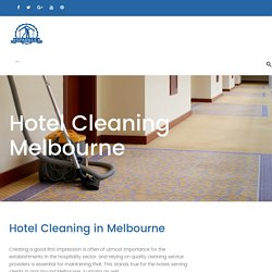 Hotel Cleaning Melbourne - Sparkleoffice