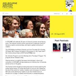 MWF 2015 → Melbourne Writers Festival