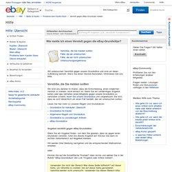 Wie melde ich einen Verstoß gegen die eBay-Grundsätze?