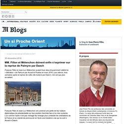 MM. Fillon et Mélenchon doivent enfin s'exprimer sur la reprise de Palmyre par Daech