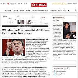 Mélenchon insulte un journaliste de L'Express: Un verre ça va, deux verres…
