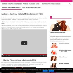 Melhores Corte de Cabelo Medio Feminino 2016