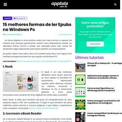 15 melhores formas de ler Epubs no Windows Pc