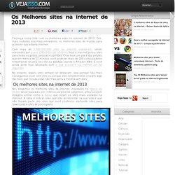 Os Melhores sites na internet de 2013