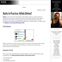 Luke Melia » Redis in Practice: Who's Online?