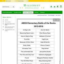 Mann, Melissa / Elementary Battle of the Books